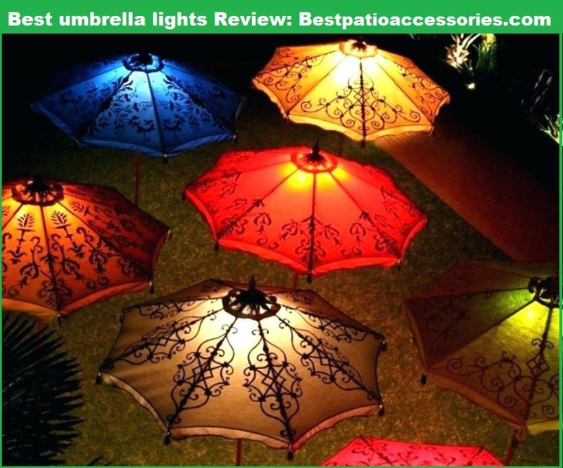 Best Patio Umbrella Lights Wonderful