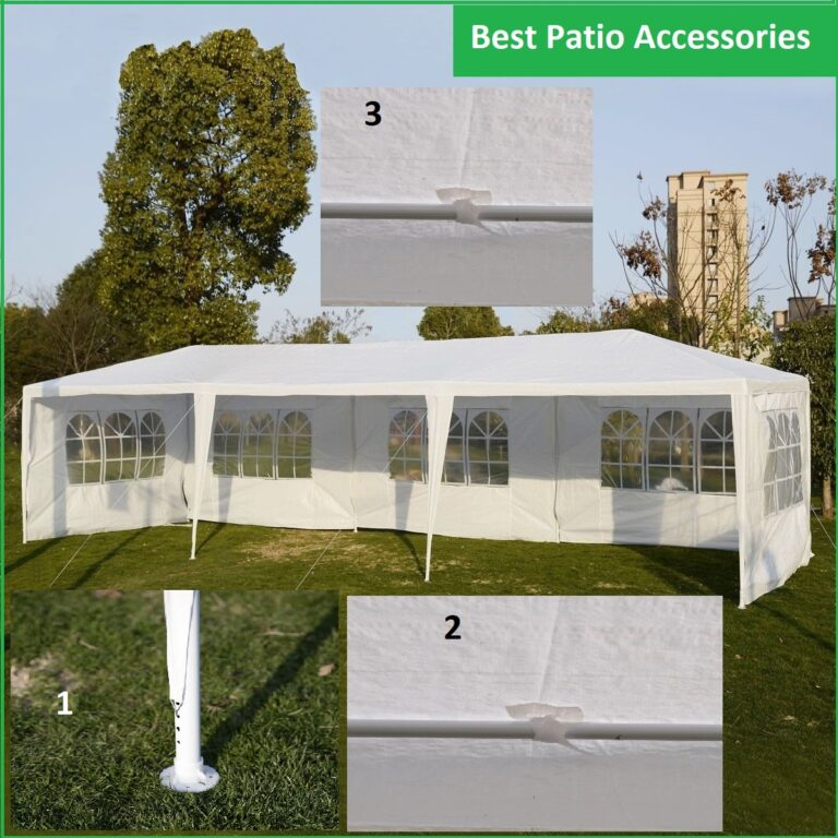 10 X30 Ft Heavy Duty Tent White Patio Canopy Gazebo For Event