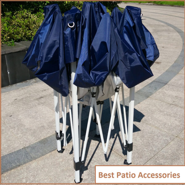 10x10 ft Foldable Easy Pop Up Canopy Patio Tent with Carrying Bag 3