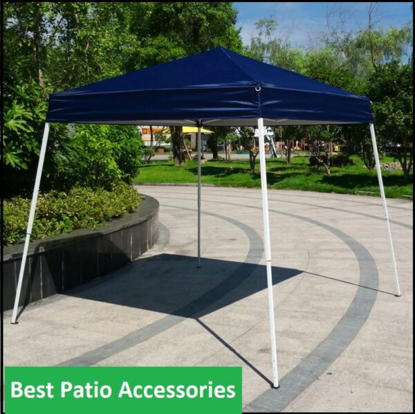 10x10 ft Foldable Easy Pop Up Canopy Patio Tent with Carrying Bag